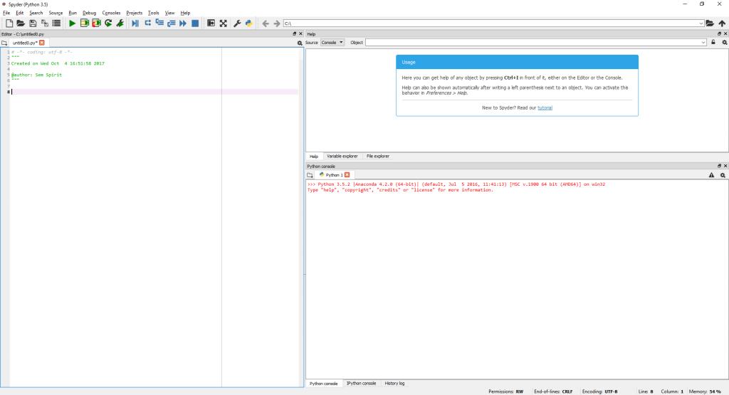 Installing Python and Spyder IDE - Sem Spirit